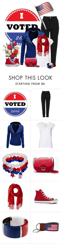"""Get out and vote"" by tinkertot ❤ liked on Polyvore featuring Topshop, Doublju, Witchery, J.Crew, Converse, Dolce&Gabbana, Smathers & Branson and Grandin Road"