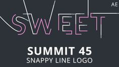 Summit 45 - Snappy Line Logo - After Effects #AfterEffects #AE #tutorial