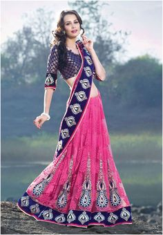 Wedding Lehenga Color Trend 2014: Royal Blue  | Mine Forever