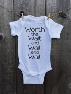 Miracle Baby onesie or Toddler Tshirt. Worth by StreetWeddingShop