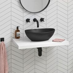 Bathroom trends come and go, but the essential elements of the bathroom are forever: sink (with or without a vanity), toilet, shower and/or bathtub. White Bathroom Interior, White Bathroom Tiles, Bathroom Basin, Modern Bathroom Design, Small Bathroom, Modern Bathrooms, Cloakroom Sink, Bathroom Designs, Parisian Bathroom