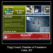 My Web Design Clients: Trigg County Chamber of Commerce. Cadiz, Kentucky.