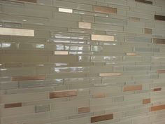 ♥ this glass tile ♥ there are pieces that some like copper. . . beautiful