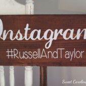 Instagram Wedding Sign