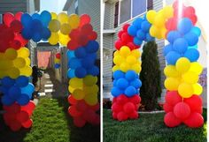 cute entrance to church idea - see other pin for tutorial on how to make this