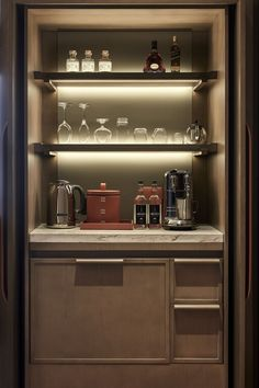 Tour The St. Regis Hong Kong with our photo gallery. Our Hong Kong hotel photos will show you accommodations, public spaces & more. Built In Bar Cabinet, Home Bar Cabinet, Mini Bar At Home, Bars For Home, Hotel Minibar, Bar Sala, Home Bar Rooms, Rosewood Hotel, Hotel Room Design