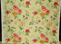 Schumacher tropical lime floral fabric