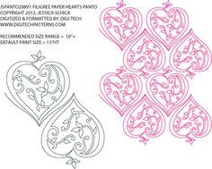 Image detail for -Filigree Paper Heart Pantograph by Jessica Schick JSPANTO208V1