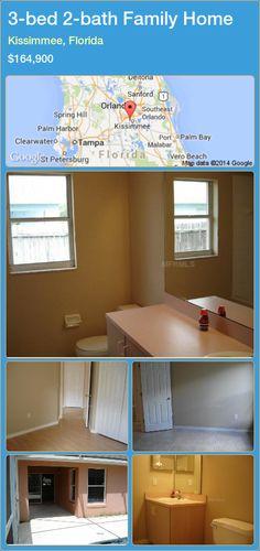 3-bed 2-bath Family Home in Kissimmee, Florida ►$164,900 #PropertyForSaleFlorida http://florida-magic.com/properties/39009-family-home-for-sale-in-kissimmee-florida-with-3-bedroom-2-bathroom