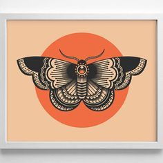 Moth Tattoo Design, Minimialistic, from StayGoldMedia on Etsy
