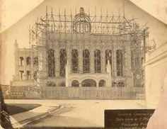 Construcción del Palacio Presidencial,Habana.