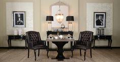 Fotele Marteen, konsole Lawrence, obrazy Stars.