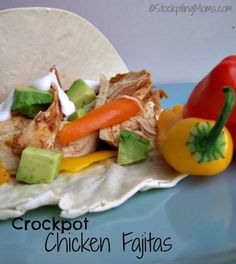 You will love this easy crockpot chicken fajita recipe that is delicious, made in the crockpot and has an easy cleanup!