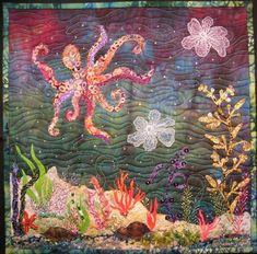 Octopus art quilt by Debra Harry