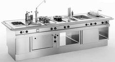 cuisine professionnelle modulaire pour moyenne restauration OPTIMAMEISTER MKN