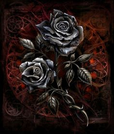 Bestami Turna returns to breathe life into original track 'Black Rose' Deep Mix - Modern Gothic Wallpaper, Skull Wallpaper, Rose Wallpaper, Gothic Artwork, Skull Artwork, Dark Fantasy Art, Dark Art, Panzer Tattoo, Black Rose Flower