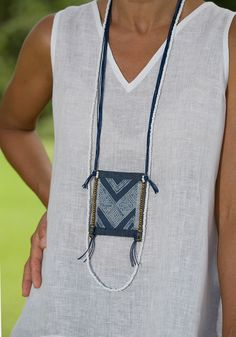 Women's sumer time apparel:  white linen gauze little Top and sarouel pants Sarouel Pants, Traditional Skirts, Hmong People, Natural Clothing, Blue Necklace, Casual Looks, How To Wear, Cotton, Clothes