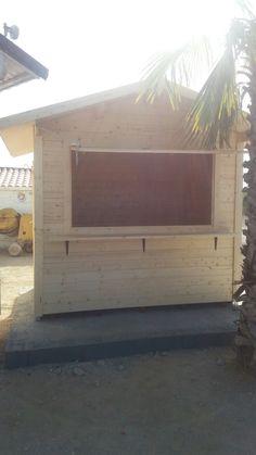 kisko de madera robusto de 28 mm de grosor en paredes. Disponible en Garden Hortum