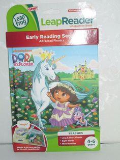 LEAPFROG LEAPREADER TAG DORA THE EXPLORER LEAP READER FROG BOOK NEW #LeapFrog