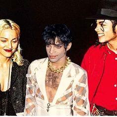 Madonna, Prince and Michael Jackson