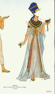 Great Empresses and Queens Paper Dolls (Tom Tierney) - - Picasa Web Albums Ancient Egyptian Clothing, Ancient Egyptian Costume, Egyptian Fashion, Ancient Egypt Fashion, Egyptian Women, Fashion History, Fashion Art, Hijab Fashion Inspiration, Style Inspiration