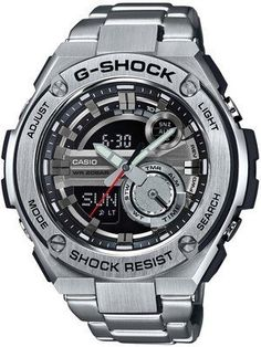 Casio G-Shock G-Steel Analog Digital World Time GST-210D-1A Men's Watch
