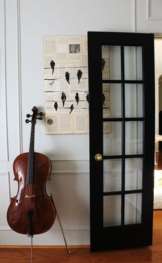 Beautiful arrangement with black french doors