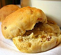Rooibos Raisin Rolls - Serving Size: 12 rolls Ingredients      1 1/4 cups water     1 tbsp rooibos tea     1 package (2 1/4 tsp) active dry yeast     2 tbsp honey     2 tbsp butter, melted and cooled     1 tsp salt     2 3/4 cups all purpose flour, plus extra for kneading     1/2 cup raisins