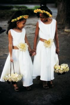 Flower Girls  | Photography by: LaCour Photography