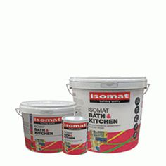 ISOMAT BATH & KITCHEN is the high quality antimold emulsion paint for indoor use. It prevents mold and bacteria and is ideal for areas with high concentration of moisture and vapors, such as kitchens, bathrooms, basements, ceilings, etc. It has strong adhesion to various substrates such as plaster, concrete, bricks, plaster wood etc. It contains no ammonia . It gives a uniform matt surface. Concrete Bricks, Basements, Building Materials, Plaster, Ceilings, Interior And Exterior, Kitchen Dining, Adhesive, Bathrooms