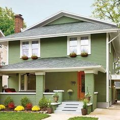 Sage green house green house siding and green siding on pinterest - Exterior grade paint concept ...