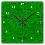 Bright Neon Green Cork Bark Look Wood Grain Square Wall Clock  #Bark #Bright #Clock #Cork #Grain #Green #Look #Neon #RusticClock #Square #Wall #Wood The Rustic Clock