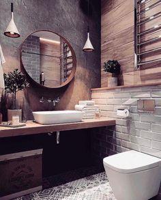 Fascinating bathroom design decor ideas refresh your mind Downstairs Bathroom, Bathroom Renos, Master Bathroom, Beautiful Bathrooms, Modern Bathroom, Small Bathroom, Bad Inspiration, Bathroom Inspiration, Bathroom Interior Design