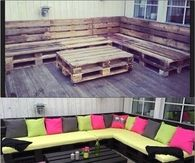Outdoor Furniture using Pallets