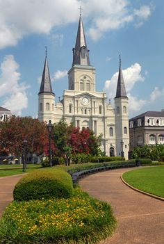Louis Cathedral: New Orleans, La-- The St. Louis Cathedral is also known as the Cathedral-Basilica of Saint Louis, King of France. There are three churches standing on the site since It is the oldest continuously operating cathedral in the USA. St Louis Cathedral, Cathedral Church, The Places Youll Go, Places To See, Cathedral Basilica, New Orleans Louisiana, Louisiana Usa, Jackson Square, Chapelle