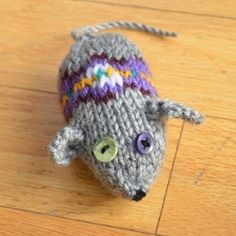 This adorable knitted mouse was a great project for a beginner knitter like myself.