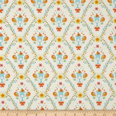 Under the Big Top Ice Cream Sundae White from @fabricdotcom  Designed by Kimberly Bourne for Benartex, this fabric is perfect for quilting, apparel and home decor accents. Colors include orange, aqua, red, yellow, lime and white.