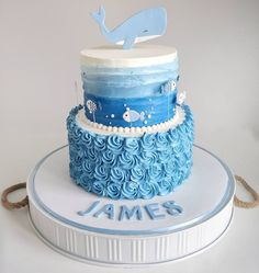 Whale Baby Shower Cake My Cakes Pinterest Shower