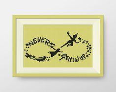 ACHETEZ-EN 2, OBTENEZ-EN 1 GRATUIT ! Peter Pan Croix broderie, Peter Pan Wendy and Co flying, téléchargement immédiat, ne jamais grandir, P089