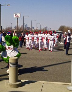 The 2013 Phillies walking into Citizens Bank Park.