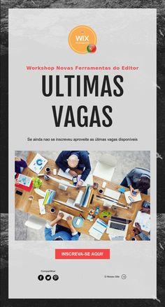 Workshop Novas Ferramentas do Editor  ULTIMAS   VAGAS