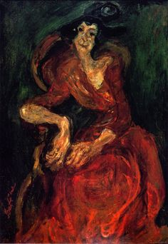 Chaim Soutine - a womam in red