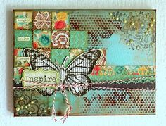 "From SJ at Little Musings for Fiskars. Inspires me to put ""inchies"" on a mixed media canvas."