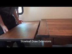 Amish Made Stowleaf Farmhouse Draw Extension Dining Room Table (ID: 1210) - YouTube