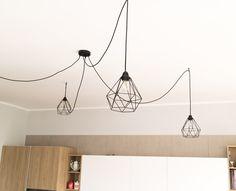 LAMPADE CREATIVE CABLES #lampade #idea #illuminazione #design #metallo #vintage #nero #black #arredamento #cucina #modern #sospensione #inspiration #kichens #italy #madeinitaly #spidereffect #spider