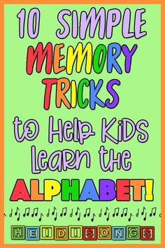 10 Simple Memory Tricks to Help Kids Learn the Alphabet – Heidi Songs Kids Learning Alphabet, Alphabet Songs, Teaching The Alphabet, Toddler Learning Activities, Alphabet For Kids, Teaching Kids, Teaching Toddlers Letters, Learning Games, Letters Kindergarten