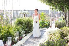 Sleeveless Lace Wedding Gown. Claire Pettibone gown Event Design by Thomas Bui Lifestyle. Photography by Samuel Lippke, featured on Elizabeth Anne Design