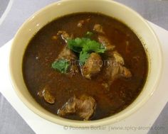 Spicy-Aroma: Mutton Rassa (Maharashtrian Lamb Curry) – Recipe with step by step pictures FULL RECIPE HERE Green Chicken Recipe green chick. Lamb Dishes, Veg Dishes, Curry Dishes, Food Dishes, Food Food, Goat Recipes, Cooking Recipes, Veg Recipes, Chicken Recipes