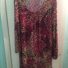Lovely dress Soft long sleeve dress.  Very comfortable Chadwicks Dresses