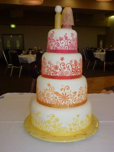 The back of the cake